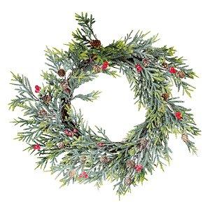 Guirlanda de Natal Decorativa - Berry e Pinhas