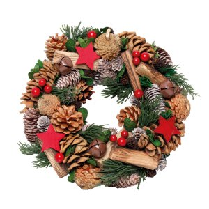 Guirlanda de Natal Decorativa- Pinhas