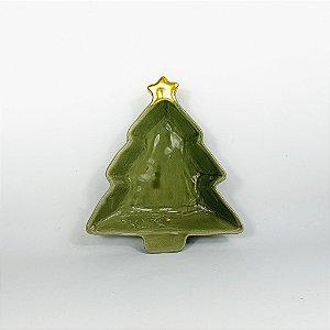 Prato de Cerâmica - Pinheiro Verde - 15,5cm