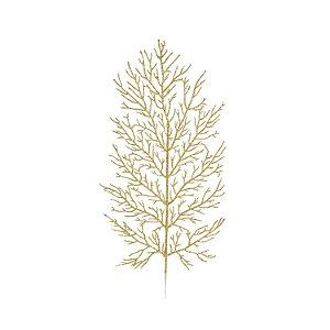 Galho Folhas - Dourado/Glitter