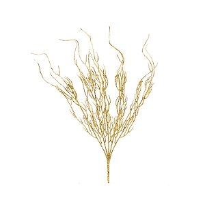 Galho Com Glitter - Dourado