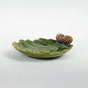 Bandeja de Cerâmica - Pinhas - 15cm