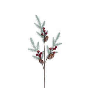 Galho de Folhas- Berrys/Pinha