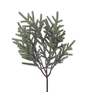 Galho de Folhas Verdes - Nevado