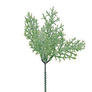 Pick de Folhas Verdes - Glitter