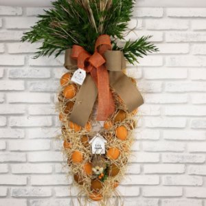 Guirlanda de Páscoa - Formato de cenoura