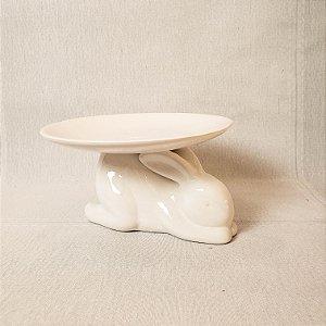 Boleira de cerâmica - Coelho deitado