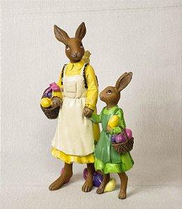 Coelha de resina - 20cm
