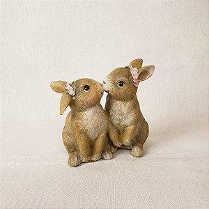 Coelhas de resina - 11cm