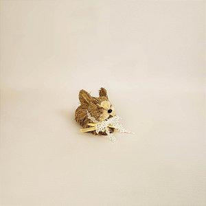 Coelho rústico deitado 7cm