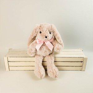 Coelho de pelúcia rosa 30cm