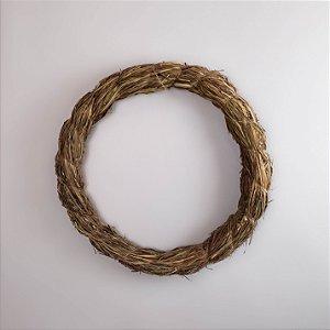 Aro Guirlanda de palha - 35cm