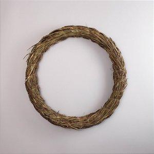 Aro - Guirlanda de palha 40cm
