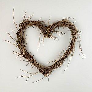 Aro - Guirlanda de galhos - Coração 25cm