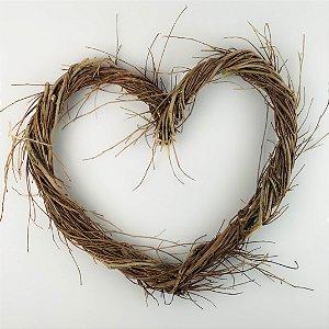 Aro - Guirlanda de galhos - Coração 35cm