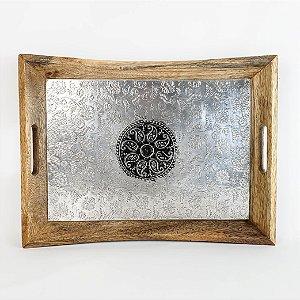 Bandeja c/ Fundo de Metal - 41x30x3