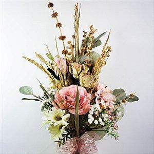 Buquê de Flores Românticas - 50cm