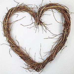 Aro Guirlanda de Galhos Coração - 40cm