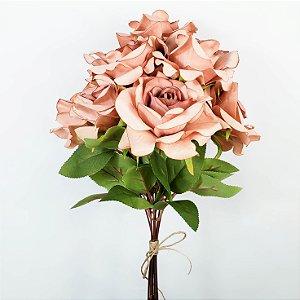 Buquê de Rosas Rosê - 50cm