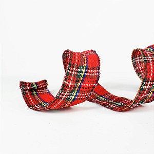 Fita Aramada Xadrez Escocês - 9mx6cm