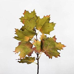 Haste de Folha Maple Verde Outonal - 50cm