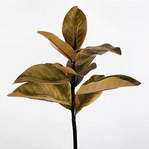 Haste de Folha de Magnólia Verde Outonal - 70cm