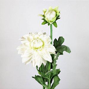 Haste de Dália Branca - 56cm