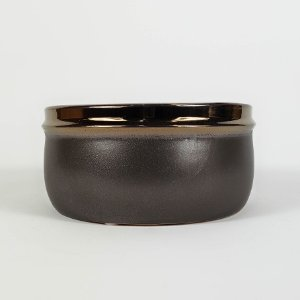 Vaso de Cerâmica Cobre e Grafite - 6,5cmx13,5