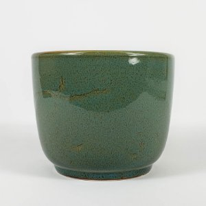 Vaso de Cerâmica Verde Floresta - 11cmx12,5cm