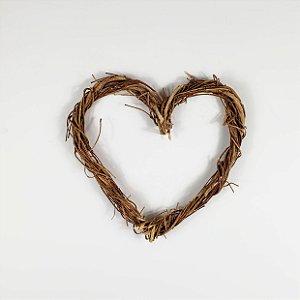 Aro - Guirlanda de galhos - Coração 20cm