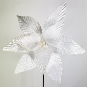 Poinsettia Natalina Branca Luxe - 60cm