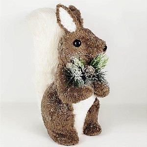 Esquilo Natalino em Pé - 32cm