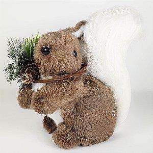 Esquilo Natalino Marrom - 18cmx20cm