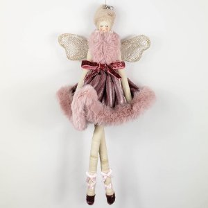 Fada c/ Vestido de Veludo - 28cm