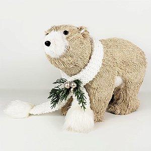 Urso Natalino em Pé - 21cmx30cm