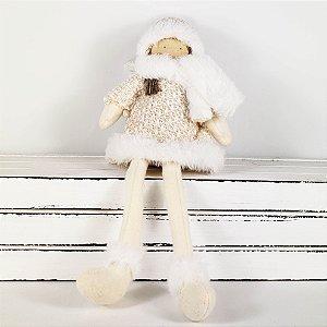 Menina Scarf Sentada - 30cm