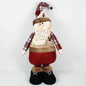 Papai Noel Candy Retrátil - 75cm