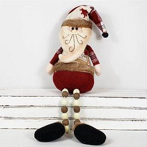 Papai Noel Candy Miçangas Sentado - 43cm