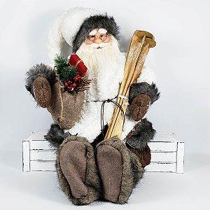 Papai Noel Laminador Sentado - 60cm