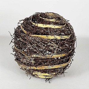 Bola Decorativa de Vime - 12cm
