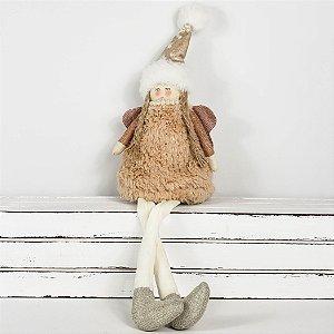 Anjo Patchy de Pelúcia Rosé - 23cm
