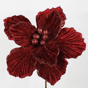 Poinsettia Natalina Lux Vermelha - 45cm