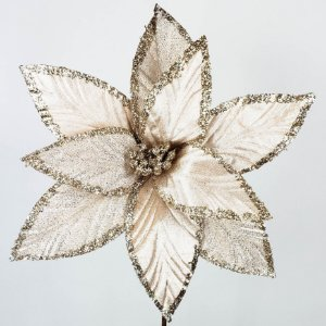 Poinsettia Natalina Champanhe - 60cm