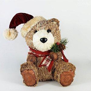 Urso Rústico Sentado - 18cmx14cm