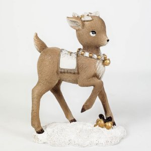 Rena Natalina Decorativa em Resina - 12cm