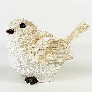 Pássaro Decorativo de Resina - 7cmx9cm