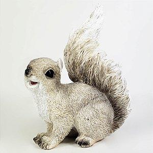 Esquilo Decorativo de Resina - 14,5cm