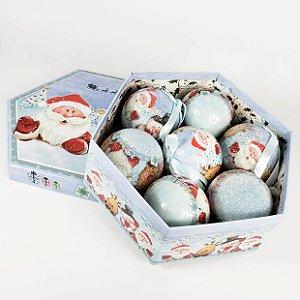 Caixa c/ Bolas de Natal Classic Christmas - 20,5cm