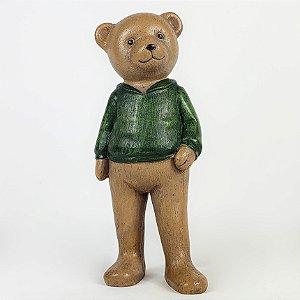Urso de Agasalho em Resina - 17cm