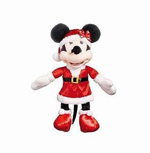 Minnie de Pelúcia c/ Roupa de Mamãe Noel - 30cm